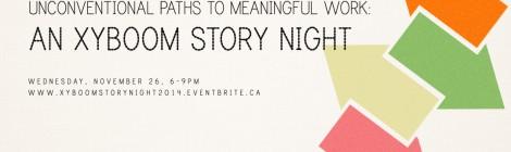 An XYBOOM Story Night: Coming Nov. 26th, 2014